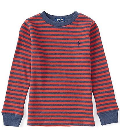 Polo Ralph Lauren Little Boys 2T-7 Long-Sleeve Striped Waffle-Knit Henley Tee