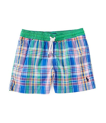 Polo Ralph Lauren Little Boys 2T-7 Plaid Traveler Swim Trunks