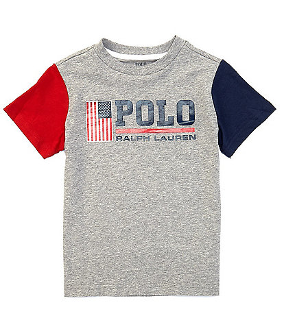 Polo Ralph Lauren Little Boys 2T-7 Short-Sleeve Americana Flag Graphic Tee