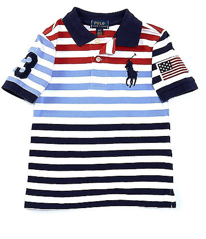 Polo Ralph Lauren Little Boys 2T-7 Short-Sleeve Striped Americana Polo Shirt