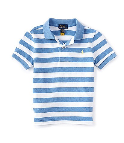 Polo Ralph Lauren Little Boys 2T-7 Short-Sleeve Striped Heathered Mesh Polo Shirt