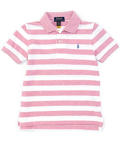Polo Ralph Lauren Little Boys 2T-7 Short-Sleeve Striped Heathered Mesh Polo Shirt