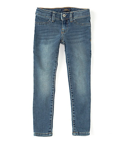 Polo Ralph Lauren Little Girls 2T-6X Aubrie Knit Denim Leggings