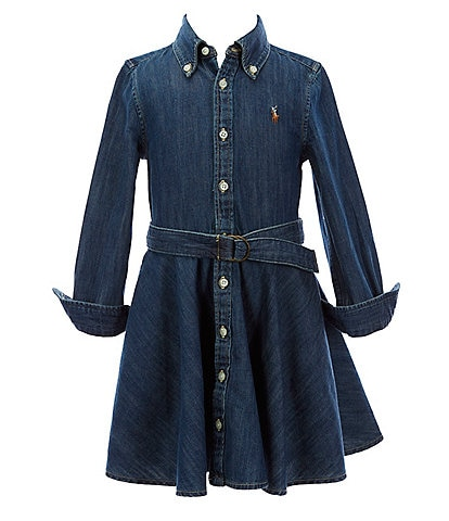 Polo Ralph Lauren Little Girls 2T-6X Belted Denim Shirt Dress