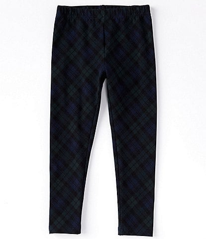 Polo Ralph Lauren Little Girls 2T-6X Plaid Stretch-Jersey Leggings