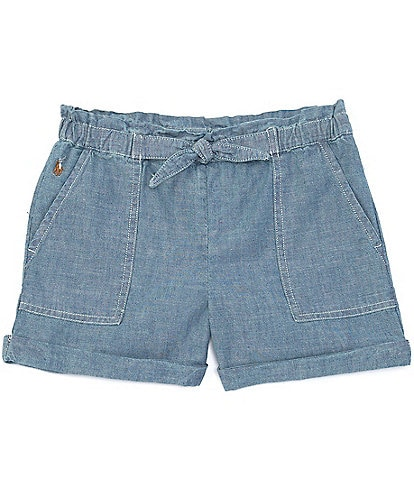Polo Ralph Lauren Little Girls 2T-6X Porkchop-Pocket Chambray Shorts