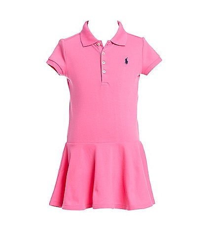 Polo Ralph Lauren Little Girls 2T-6X Short-Sleeve Mesh Dropwaist Polo Dress