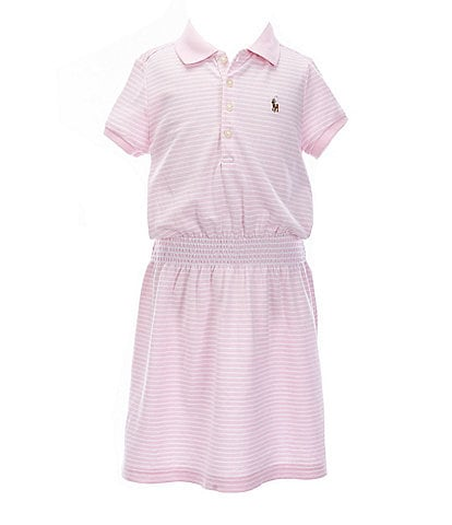 Polo Ralph Lauren Little Girls 5-6X Polo Stripe T-Shirt Dress