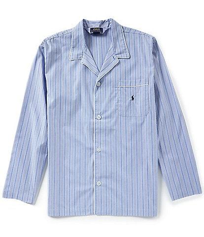 Polo Ralph Lauren Long Sleeve Woven Vertical Striped Pajama Top