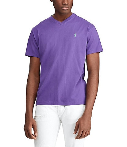 a50799fd348a Polo Ralph Lauren Classic-Fit Short-Sleeved Cotton Jersey V-Neck Tee