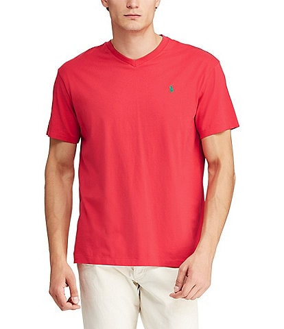 fb3f82d46 Polo Ralph Lauren Classic-Fit Short-Sleeved Cotton Jersey V-Neck Tee