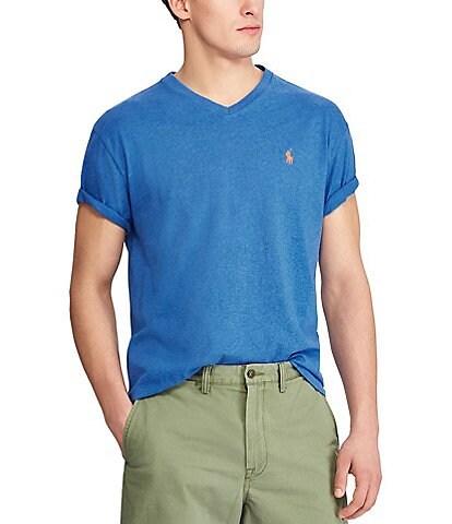 174a927ba16 Polo Ralph Lauren Classic-Fit Short-Sleeved Cotton Jersey V-Neck Tee