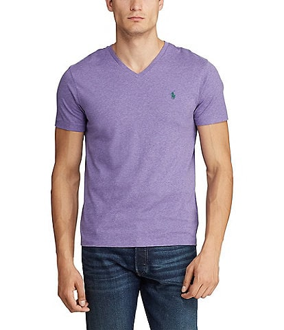 300152760 Polo Ralph Lauren Classic-Fit Short-Sleeved Cotton Jersey V-Neck Tee