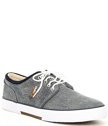 Polo Ralph Lauren Men's Faxon Denim Lace-Up Sneakers