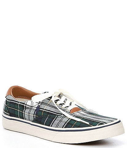 Polo Ralph Lauren Men's Tartan Plaid Thorton Sneakers