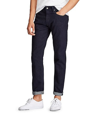 Polo Ralph Lauren Miller Hampton Relaxed Straight-Fit Dark Wash Stretch Jeans