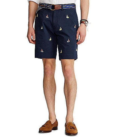 Polo Ralph Lauren Nautical Embroidered 9#double; Inseam Stretch Shorts
