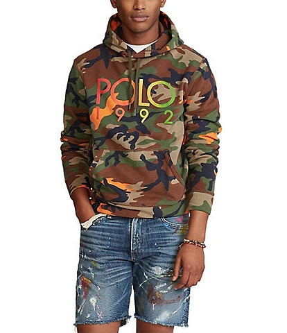 Polo Ralph Lauren Orange Camo Long-Sleeve Fleece Hoodie