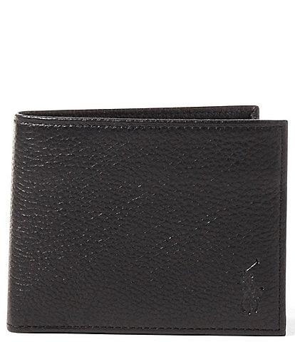 Polo Ralph Lauren Pebbled Leather Flip ID Bilfold a497ca22c27f4