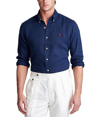 Polo Ralph Lauren Piece Dye Linen Long-Sleeve Woven Shirt