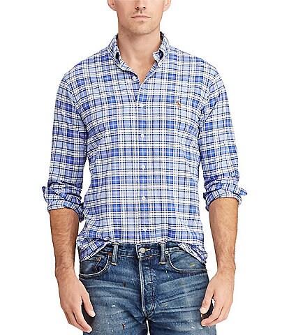 Polo Ralph Lauren Plaid Oxford Long-Sleeve Woven Shirt