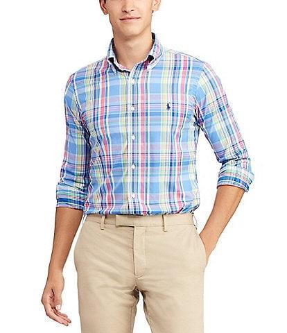 Polo Ralph Lauren Large Plaid Performance Twill Long-Sleeve Woven Shirt
