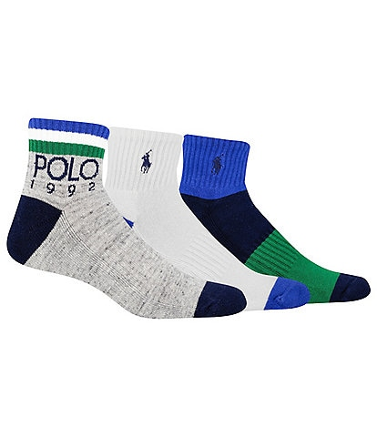 Polo Ralph Lauren Polo 1992 Quarter Socks 3-Pack