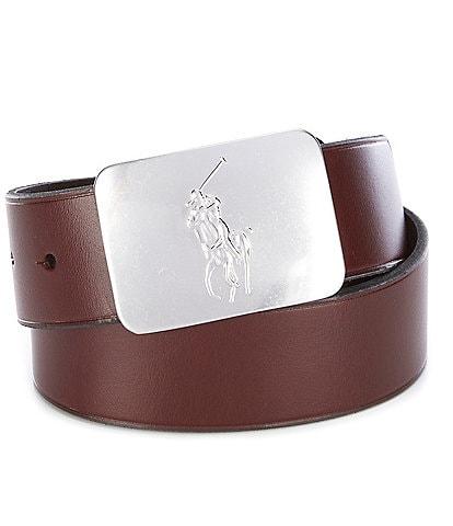 Polo Ralph Lauren Pony-Plaque Leather Belt