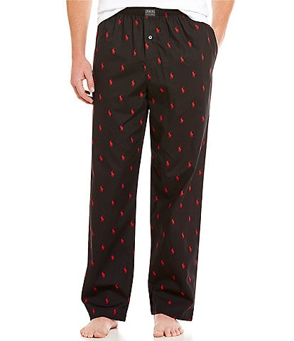 Polo Ralph Lauren Pony-Print Woven Pajama Pants