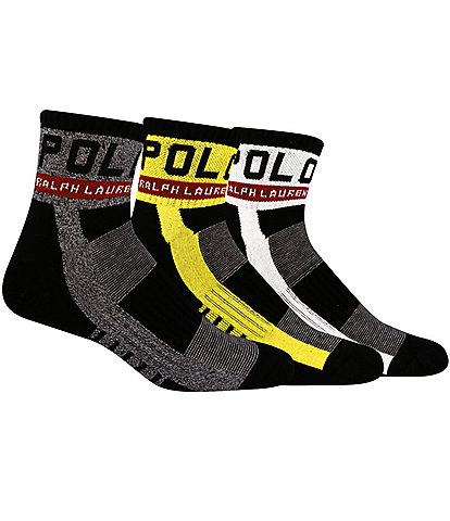 Polo Ralph Lauren PRL Racing Quarter Socks 3-Pack
