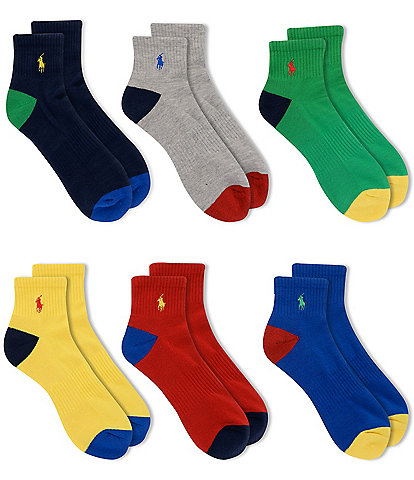 Polo Ralph Lauren Rainbow Quarter Top Socks 6-Pack