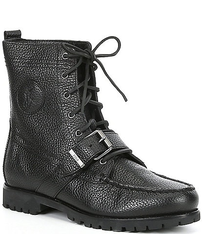 Polo Ralph Lauren Men's Ranger Leather Buckle Boots