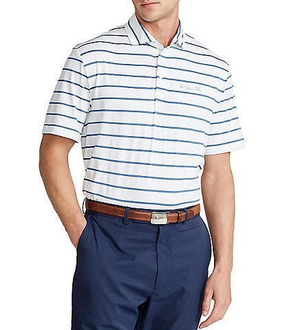 Polo Ralph Lauren RLX Golf Classic-Fit Multi-Color Tech Jersey Short-Sleeve Recycled Materials Polo Shirt