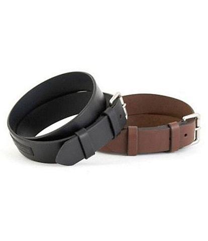 Polo Ralph Lauren #double;Saddle#double; Logo Patch Leather Belt