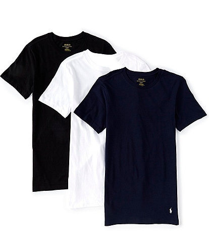 Polo Ralph Lauren Slim Fit Assorted Crew Tees 3-Pack