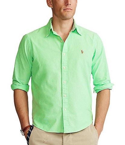 Polo Ralph Lauren Solid Chambray Long-Sleeve Woven Shirt