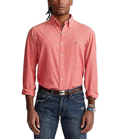 Polo Ralph Lauren Solid Chambray Long-Sleeve Woven Shirt