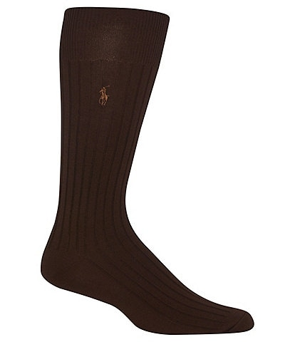 Polo Ralph Lauren Solid Cotton Rib Crew Socks