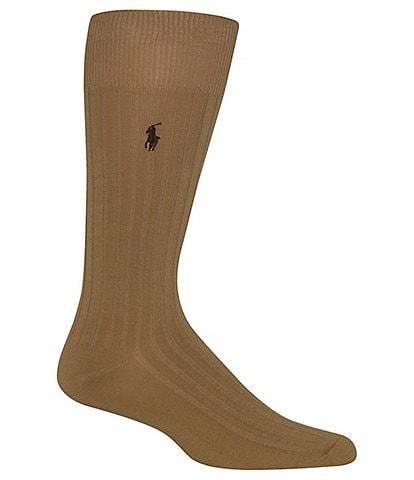 Polo Ralph Lauren Solid Cotton Rib Crew Socks
