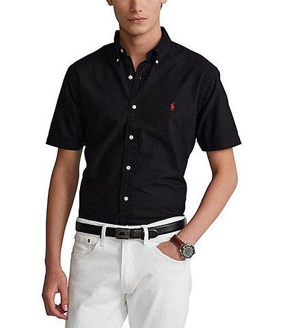 Polo Ralph Lauren Black Men's Casual Button-Front Shirts   Dillard's