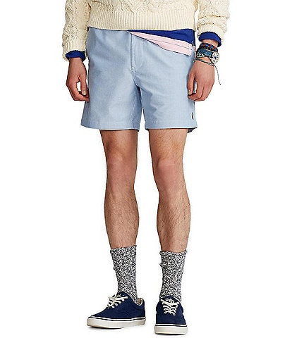 Polo Ralph Lauren Solid Oxford Prepster 6#double; Inseam Shorts