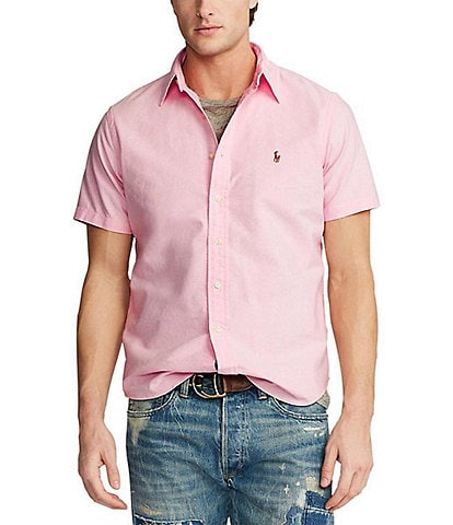 Polo Ralph Lauren Solid Oxford Short-Sleeve Woven Shirt