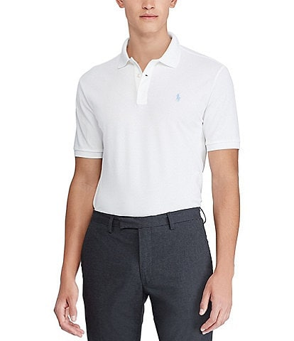 Polo Ralph Lauren Solid Stretch Mesh Short-Sleeve Polo Shirt