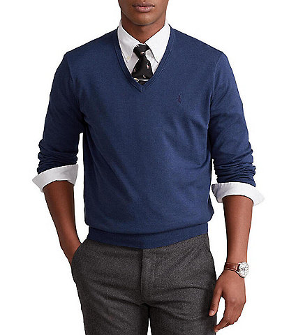 Polo Ralph Lauren Solid V-Neck Sweater