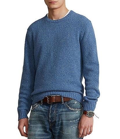 Polo Ralph Lauren Speckled Wool-Blend Crewneck Sweater