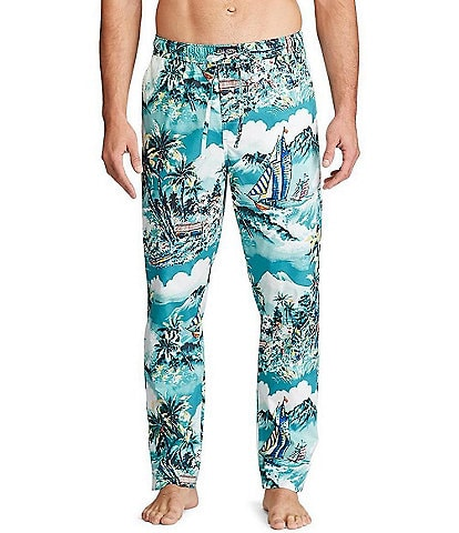 Polo Ralph Lauren Stormy Tropical Printed Stretch Woven Pajama Pants