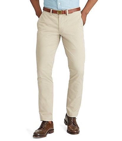 66a7411ff3ab5a Polo Ralph Lauren Straight-Fit Flat-Front Stretch Twill Chino Pants