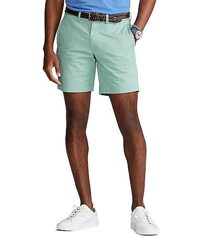 Polo Ralph Lauren Straight-Fit Stretch Essex Green 8#double; Chino Shorts