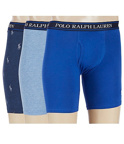 Polo Ralph Lauren Stretch Classic-Fit 3-Pack Boxer Briefs
