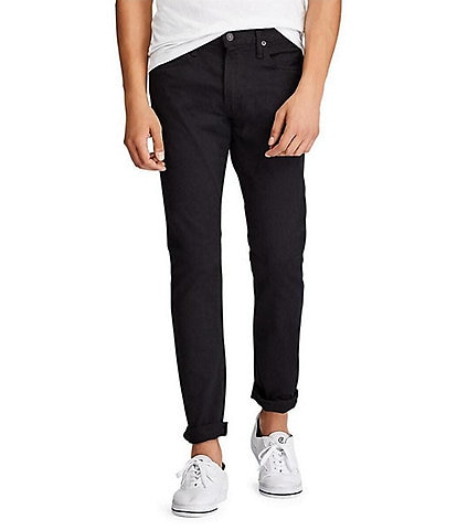 Polo Ralph Lauren Sullivan Slim-Fit Stretch Hudson Black Jeans